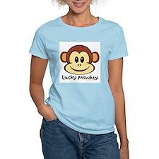 Lucky Monkey Women's Pink T-Shirt