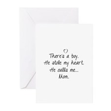 There's a boy Greeting Cards (Pk of 10)