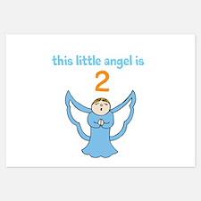 little angel custom age Invitations