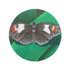 "Black Butterfly 3.5"" Button"