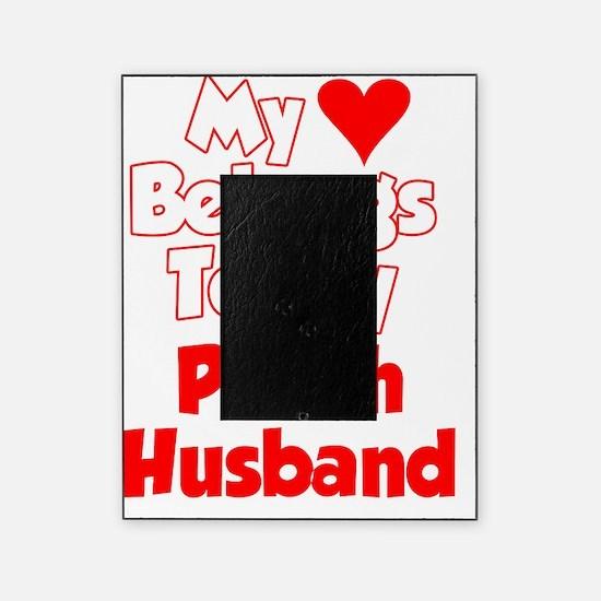 My Heart belongs To My Polish Husban Picture Frame