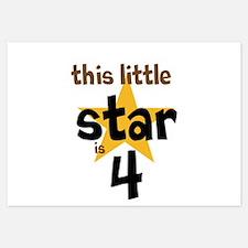 little star custom age Invitations