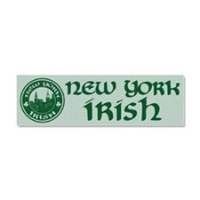 New York Irish American Car Magnet 10 x 3