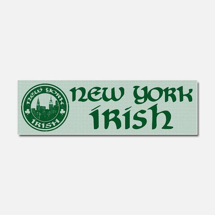New York Irish American Car Magnet 10 x 3