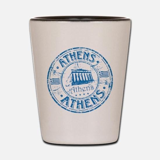 Athens Stamp Shot Glass