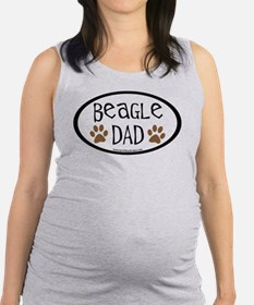 beagle dad oval.png Maternity Tank Top