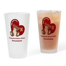 Congenital Heart Defect Awareness Drinking Glass