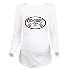 coonhound dad oval.png Long Sleeve Maternity T-Shi