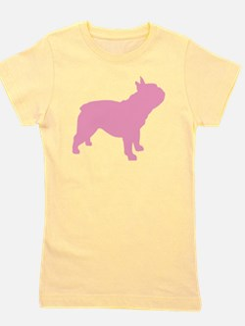french bulldog pink.png Girl's Tee