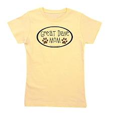 Great Dane Mom Oval Girl's Tee
