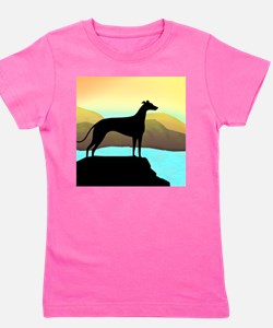 greyhound by the sea sq.png Girl's Tee