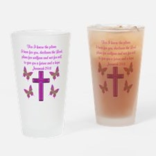 JEREMIAH 29:11 Drinking Glass