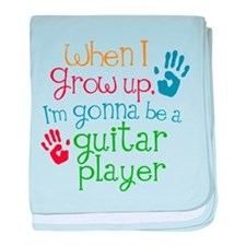 Future Guitar Player baby blanket