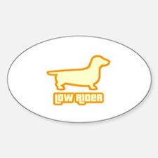 Low Rider Dachshund Oval Decal