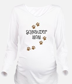 schnauzer mom.png Long Sleeve Maternity T-Shirt