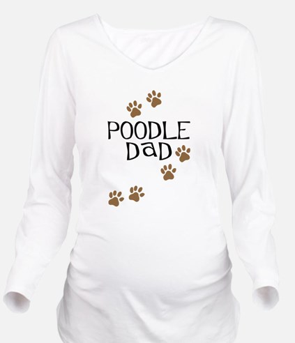 poodle dad.png Long Sleeve Maternity T-Shirt
