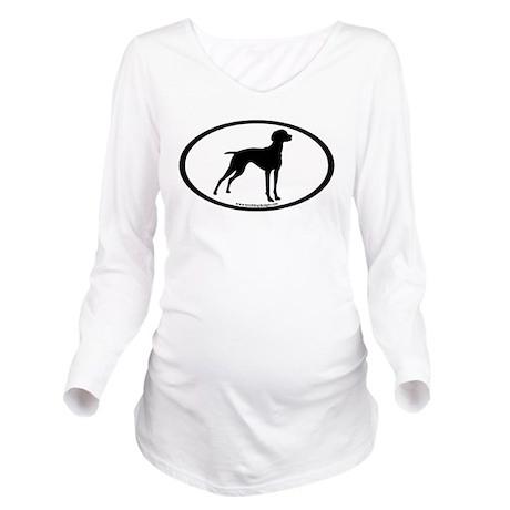 Vizsla Dog Oval Long Sleeve Maternity T-Shirt