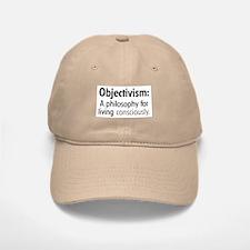 Objectivism Baseball Baseball Cap (white or khaki)