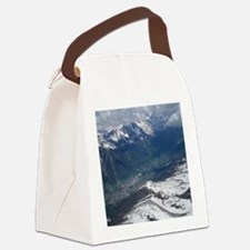 Chamonix Valley View Canvas Lunch Bag