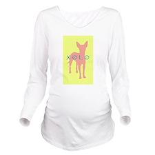 xolo dog yellow.jpg Long Sleeve Maternity T-Shirt