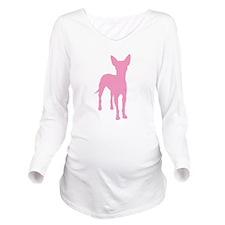 xolo dog pink tall text.jpg Long Sleeve Maternity