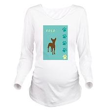 xolo teal tallish.jpg Long Sleeve Maternity T-Shir