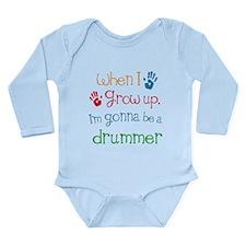 Future Drummer Long Sleeve Infant Bodysuit