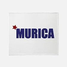 'Murica America Throw Blanket