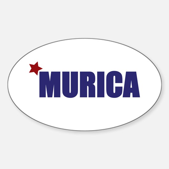 'Murica America Sticker (Oval)