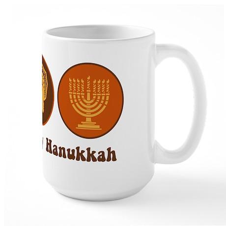 Peace Turkey Hanukkah Large Mug