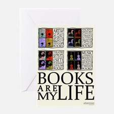 Books are my Life Greeting Cards
