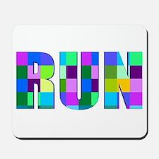 Run Squares Mousepad