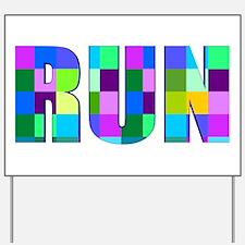 Run Squares Yard Sign