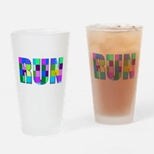 Run Squares Drinking Glass