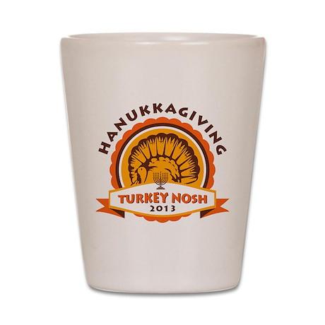Hanukkah Turkey Nosh Shot Glass