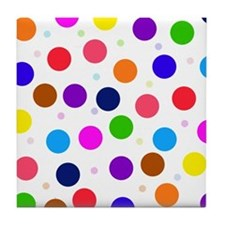 Polka dots Tile Coaster