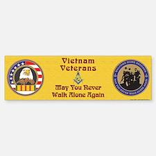 Masonic Vietnam Veteran Bumper Bumper Bumper Sticker