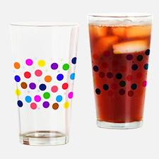 Polka dots (h) Drinking Glass