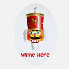 Nutcracker Head Ornament (Oval)