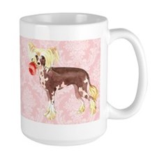 Chinese Crested Rose Ceramic Mugs