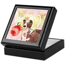 Chinese Crested Rose Keepsake Box