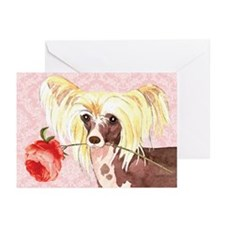 Chinese Crested Rose Greeting Cards (Pk of 10)