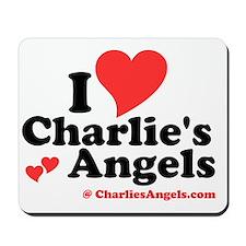I Heart Charlie's Angels  Mousepad