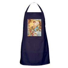 Vintage Thanksgiving Card Apron (dark)