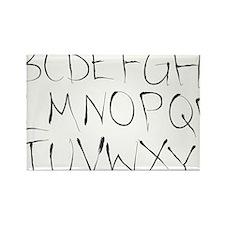 inky alphabet Rectangle Magnet