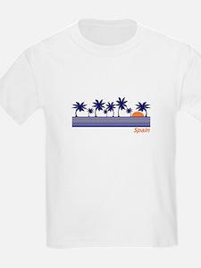 Spain Blue Palms Kids T-Shirt