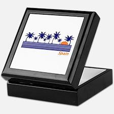 Spain Blue Palms Keepsake Box