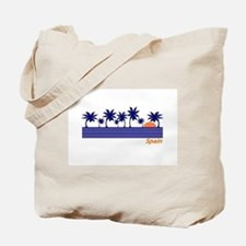 Spain Blue Palms Tote Bag
