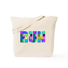Run Squares Tote Bag
