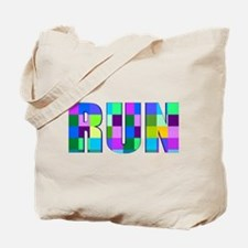Run Squares Tote Bag